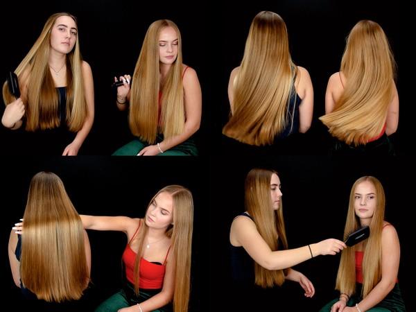 Nora and Iben Hair Play