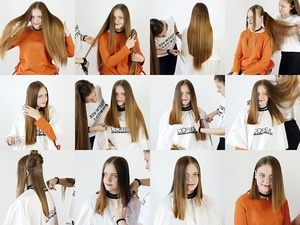 Melisa Waist Length to Long Bob Haircut
