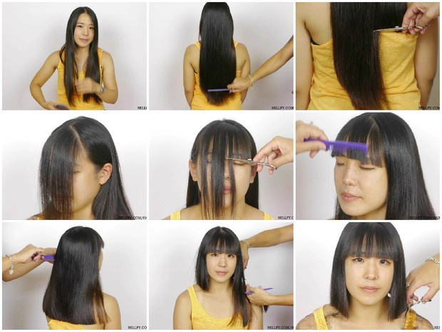 Peko's Haircut in Stages