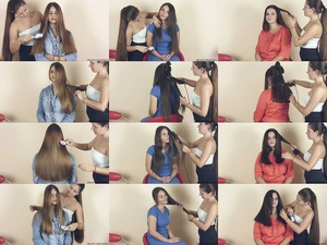 Ceca, Marijana, and Tatjana Haircut Part 1: Preparation