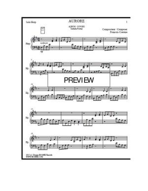 BRISE Album - SONGES - Isabelle Fortier (harpist) - François Couture (Composer)