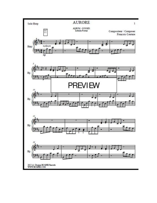GRISAILLE Album - SONGES - Isabelle Fortier (harpist) - François Couture (Composer)