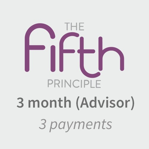 The Fifth Principle- Advisor- 3 payments