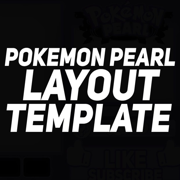 FREE Pokemon layout Template (Pearl)