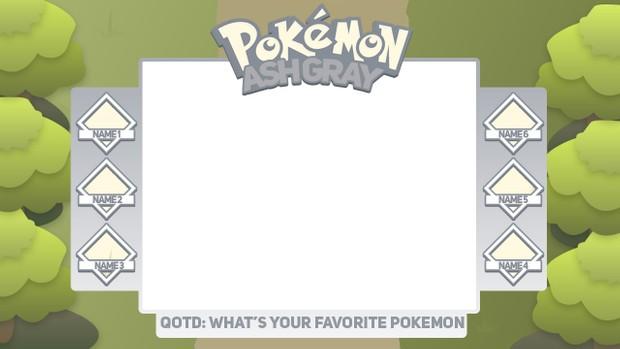 Free Pokemon Layout Template (Ash Gray)