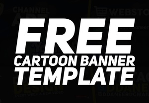 Free Cartoon Banner Template I