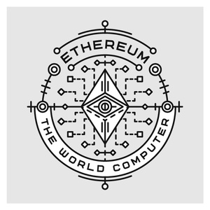 Linear Ethereum Badge or Sticker in Ai and EPS (Free for commercial)