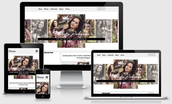 Free theme | Dakota Johnson WordPress theme