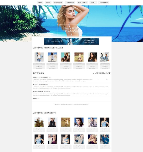 Free Coppermine Gallery theme