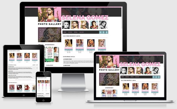 Selena Gomez Coppermine Gallery theme
