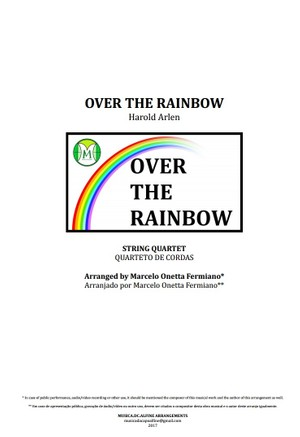 Over The Rainbow - Harold Arlen - String Quartet - Score and parts