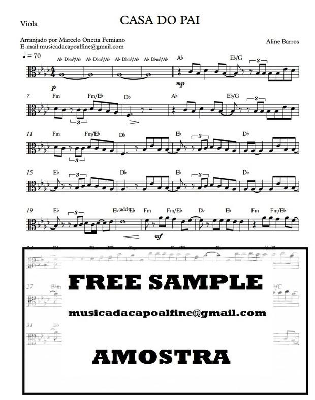 Casa Do Pai - Viola solo - Parts PDF