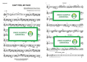 Can't  Feel My Face - The Weeknd - Keyboard - Sheet Music