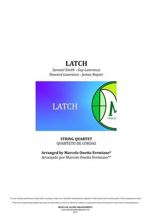 Latch   Acoustic   Sam Smith   String Quartet   Score and Parts  Download