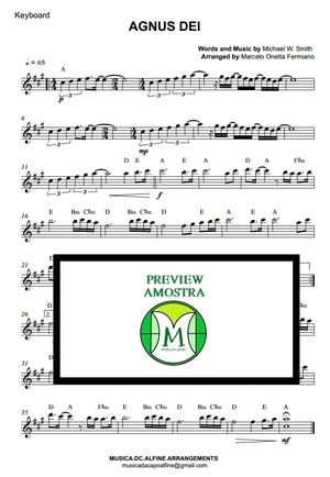 Agnus Dei - Michael W. Smith - Keyboard or Violin Sheet Music