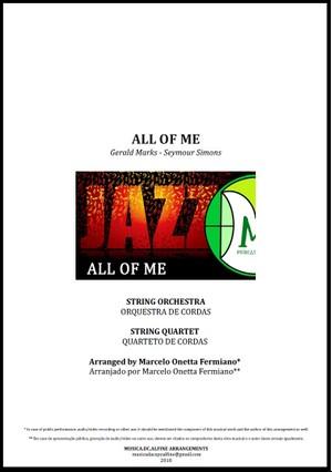 All Of Me   Jazz Standard   Orquestra de Cordas ou Quarteto de Cordas   Partitura Completa