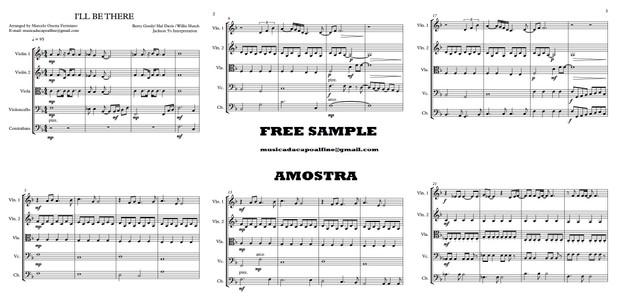 I'LL BE THERE Quinteto de Cordas - Score and parts - Download