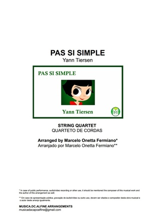 Pas Si Simple - Yann Tiersen - String Quartet - Score and parts.pdf