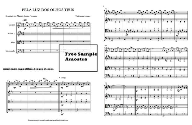 PELA LUZ DOS OLHOS TEUS - Quarteto de Cordas - Score and parts.pdf