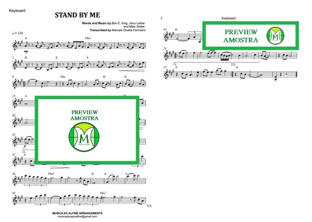 Stand By Me - Ben E. King - Keyboard or Violin Sheet Music