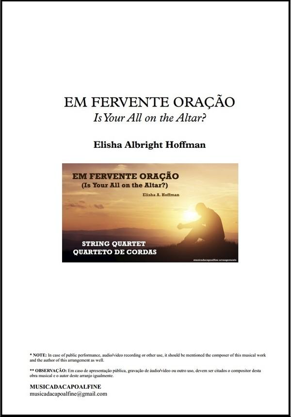Em Fervente Oração | Elisha Hoffman | Quarteto de Cordas | Download | Grade e Partes