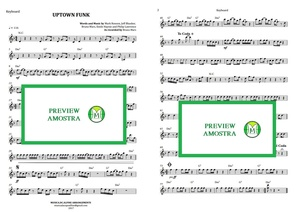 Uptown Funk - Bruno Mars - Keyboard  or Violin - Score