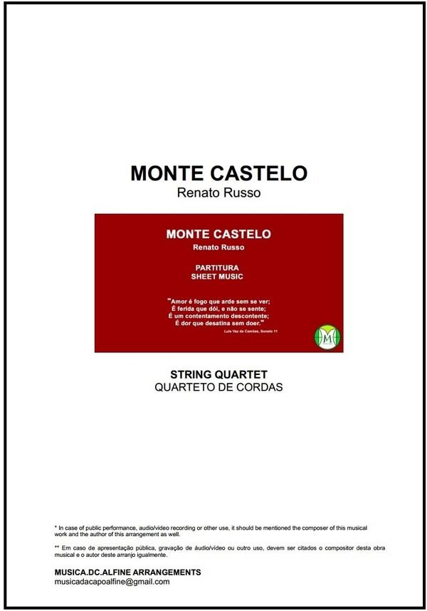 Monte Castelo | Legião Urbana | Quarteto de Cordas | Partitura | Grade e Partes | Download