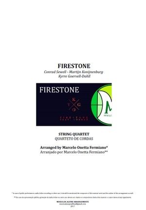 Firestone | Kygo | Quarteto de Cordas | Partitura Completa Download