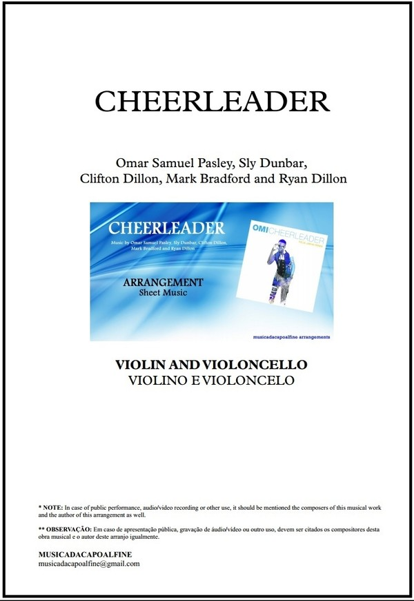 Cheerleader | OMI | Violin and Violoncello | Score and Parts | Download