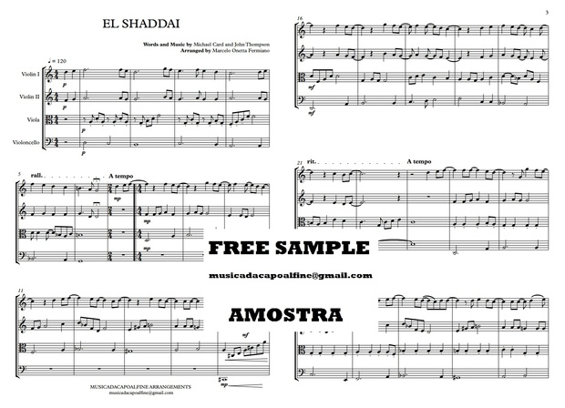 EL SHADDAI - String Quartet - Sheet Music - Score and parts.pdf