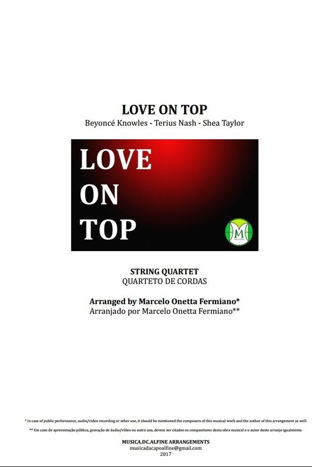 Love On Top - Beyoncé - String Quartet - Score and parts