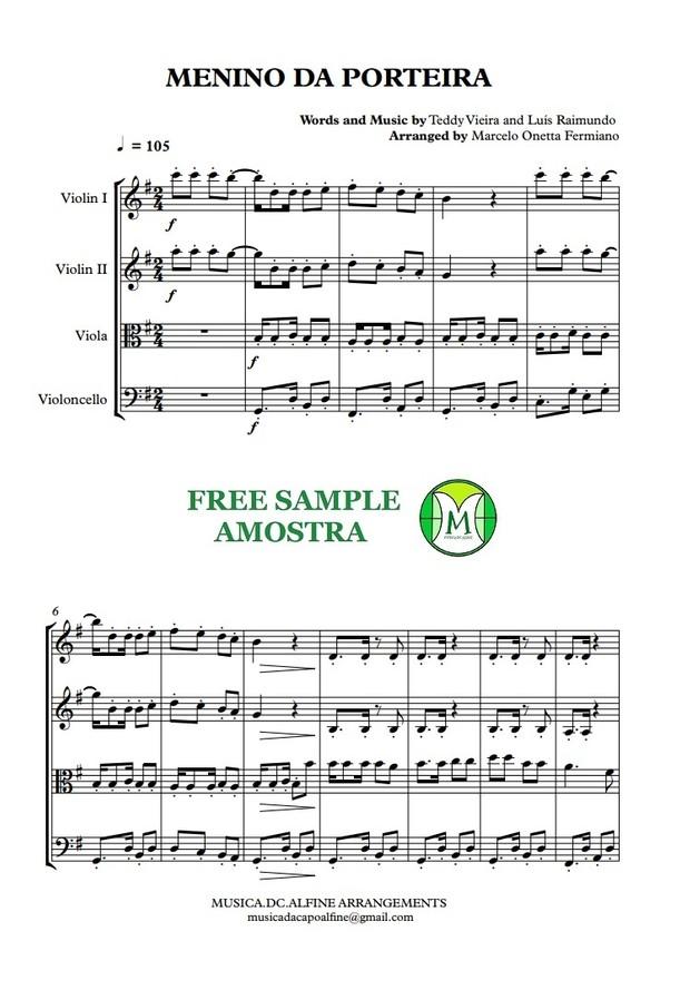 Menino da Porteira - Quarteto de Cordas - Grade e Partes