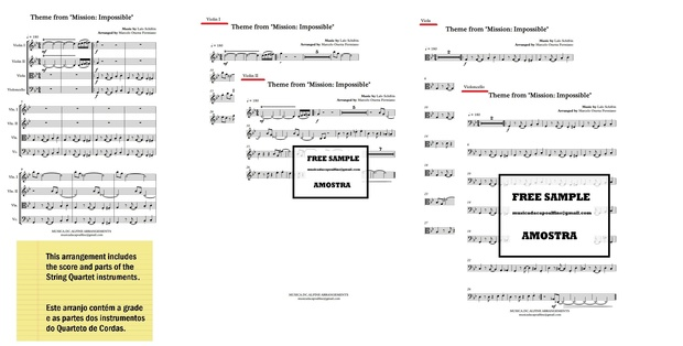 Theme from Mission Impossible - String Quartet - Score and parts.pdf