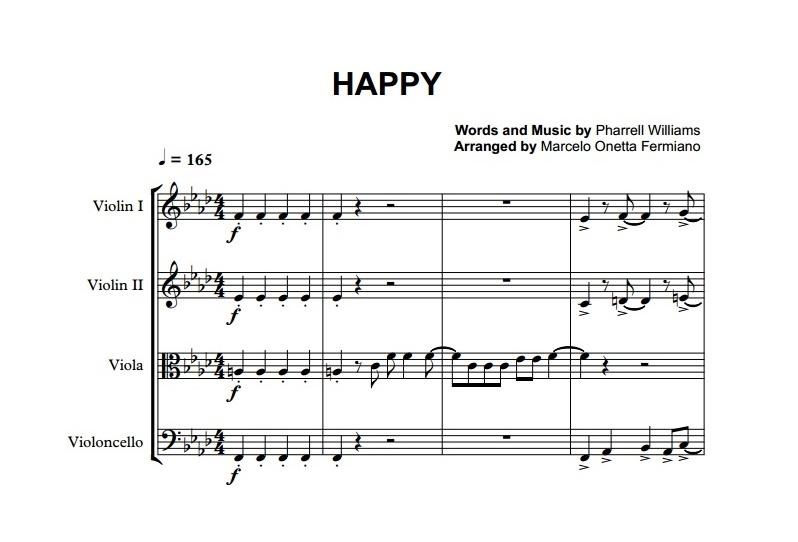 pharrell williams happy sheet music - Heart.impulsar.co