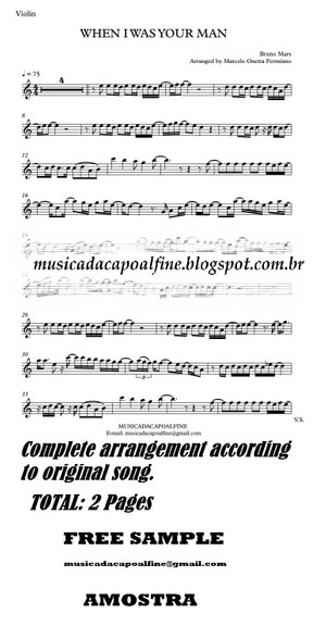 When I was Your Man - B. Mars - Violin - Sheet Music Download - Parts.pdf