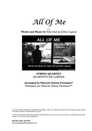 All of Me - String Quartet - Score and parts in Ab.pdf