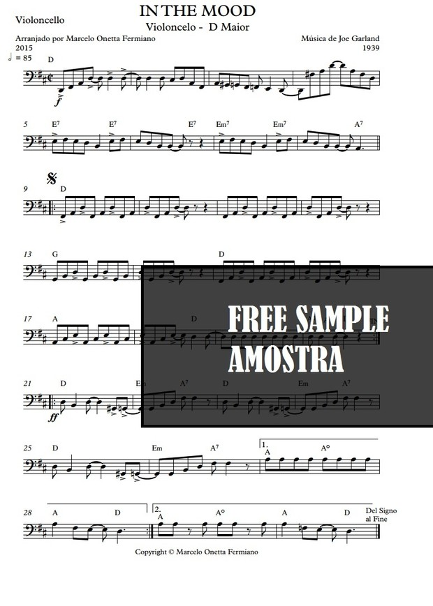 In the Mood - Garland - Violoncello Solo - Sheet Music