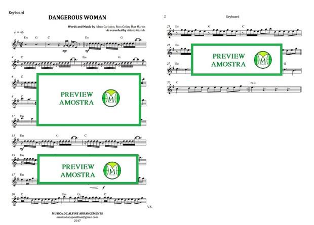 Dangerous Woman - Ariana Grande - Keyboard or Violin Sheet Music
