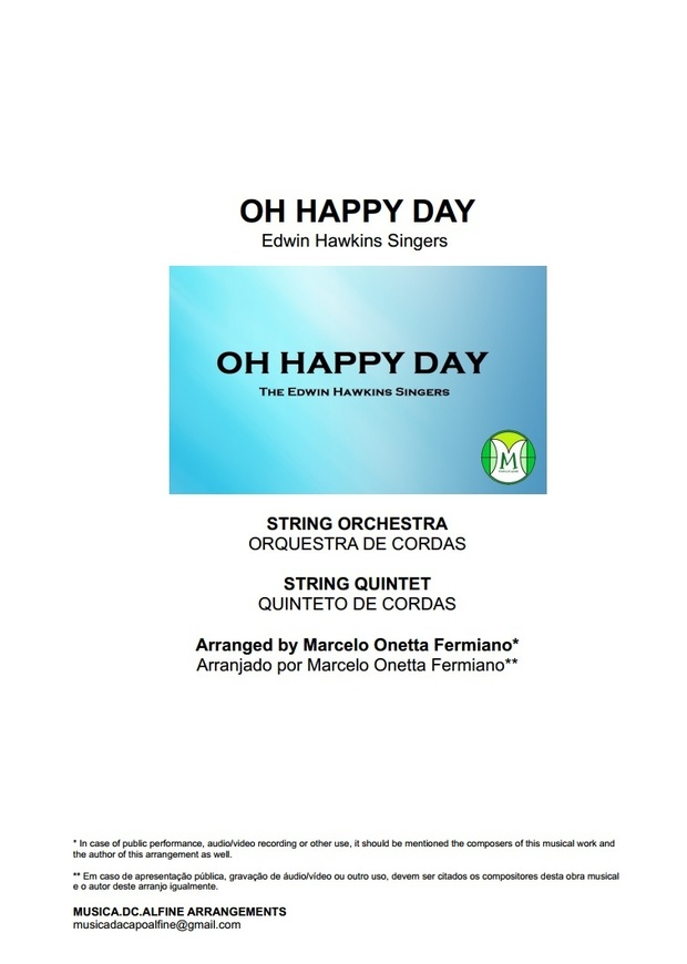 Oh Happy Day - Edwin Hawkins - String Orchestra or String Quintet - Score and parts.pdf