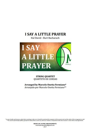I Say a Little Prayer | Aretha Franklin | String Quartet | Score and Parts
