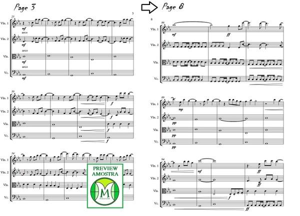 Titanium | David Guetta | Quarteto de Cordas | Grade e Partes | Partitura Download
