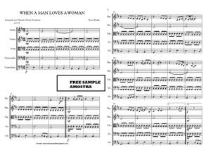 D - String Quintet- WHEN A MAN LOVES A WOMAN - Score and parts Sheet Music