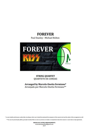 Forever | Kiss | String Quartet | Score and Parts | Download