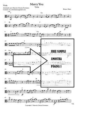 Marry You - Viola Solo - Sheet Music PDF