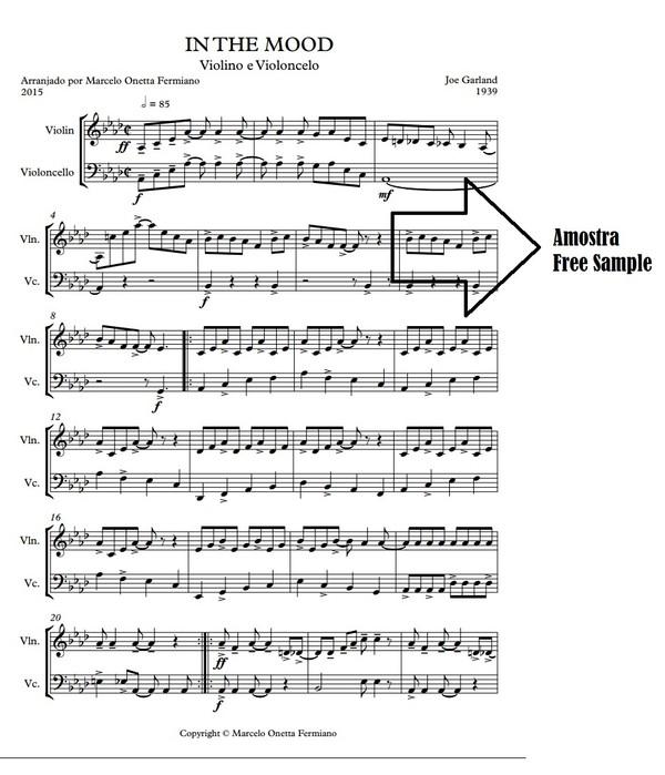 In the Mood - J.Garland - Violino e Violoncelo Partitura Download