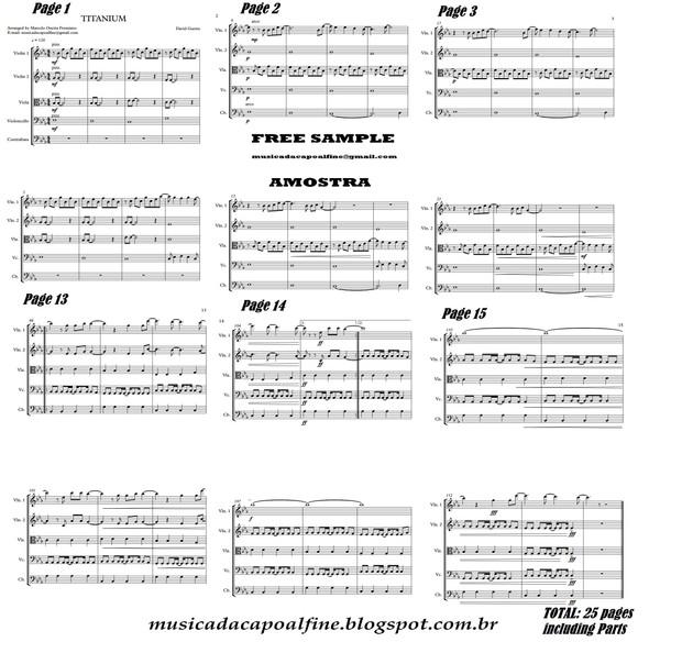 Titanium - David Guetta - String Quintet Sheet Music Download.pdf