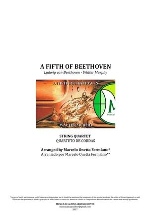 A Fifth Of Beethoven   Walter Murphy   Quarteto de Cordas   Partitura Completa
