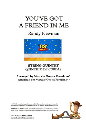 You've Got a Friend in Me - Randy Newman - String Quintet - Sheet Music PDF