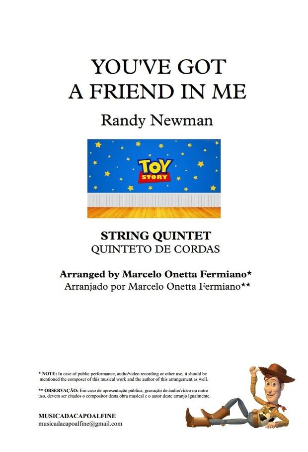You've Got a Friend in Me - Randy Newman - String Quintet - Sheet Music PDF