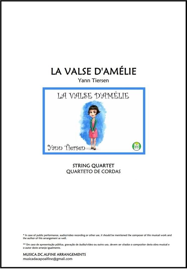 Valse d'Amélie | Tiersen | String Quartet | Score and Parts | Download